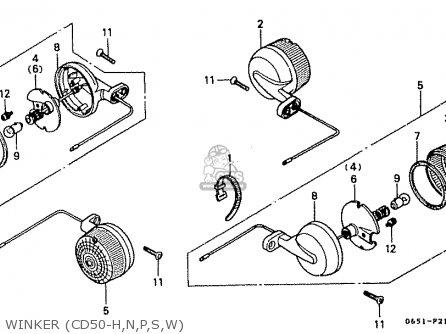Honda CD50 1987 (H) JAPAN CD50-170-180 (JDM) parts lists