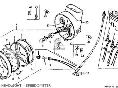 Honda CD50 1993 (P) JAPAN CD50-200 (JDM) parts lists and