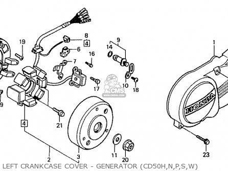 Honda Cd50 1993 (p) Japan Cd50-200 (jdm) parts list