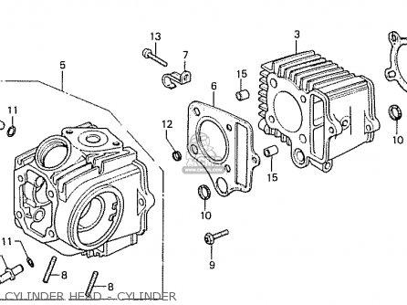 Honda Cd50k1 Norway parts list partsmanual partsfiche