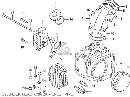 Honda Cd50z Denmark parts list partsmanual partsfiche