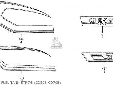 Honda CD70B GENERAL EXPORT TYPE 4 parts lists and schematics