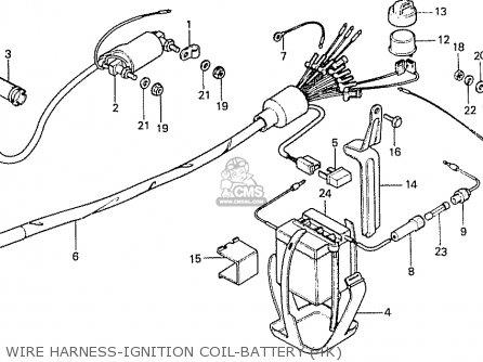 Honda Cd70b General Export Type 4 parts list partsmanual