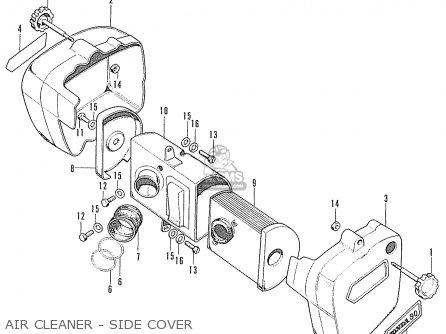 Honda Cd90z General Export parts list partsmanual partsfiche