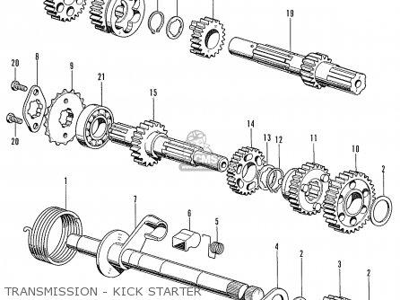 Honda Cd90z (general Export Type) parts list partsmanual