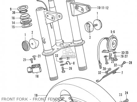 Honda Cf50 Chally General Export parts list partsmanual