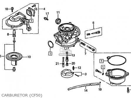Honda Cf50p (japanese Home Market) parts list partsmanual