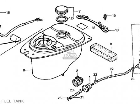 Honda Cf50p (japanese Home Market) parts list partsmanual