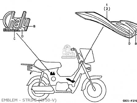 Honda Cf50v Japanese Home Market (cf50-390) parts list