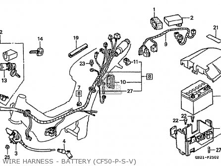 Honda Cf50v (japanese Home Market) parts list partsmanual