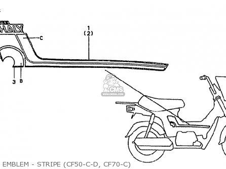 Honda CF70C JAPANESE HOME MARKET (CF70-320) parts lists