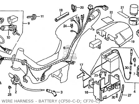 Honda CF70C JAPANESE HOME MARKET (CF70-320) parts lists