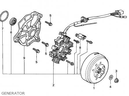 Honda Cg125 1993 General Export (kph) parts list