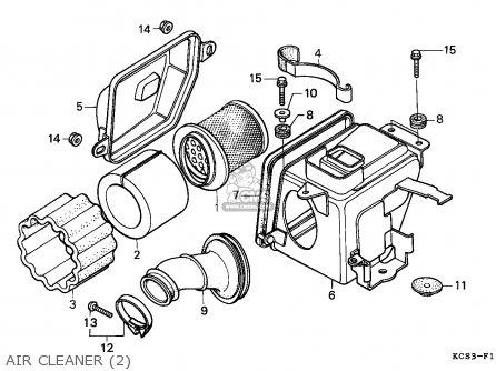 Honda Cg125 1993 (p) General Export / Kph Ss parts list