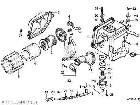 Honda Cg125 1993 (p) Singapore parts list partsmanual