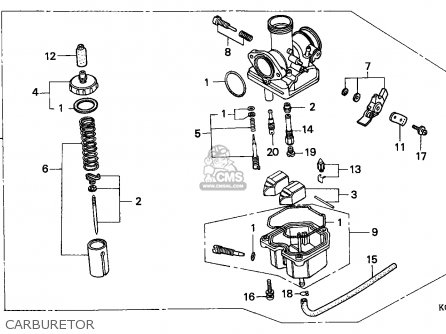 Honda Cg125 1993 (p) Singapore parts list partsmanual