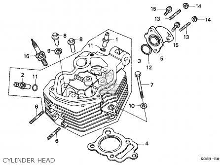 Honda Cg125 1993 Singapore parts list partsmanual partsfiche