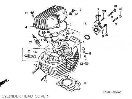 Honda Cg125 1995 England parts list partsmanual partsfiche