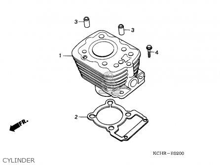Honda Cg125 1995 England parts list partsmanual partsfiche