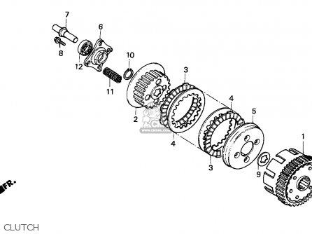 Honda Cg125 1995 (s) England parts list partsmanual partsfiche