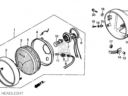 Honda CG125 1995 (S) ENGLAND parts lists and schematics