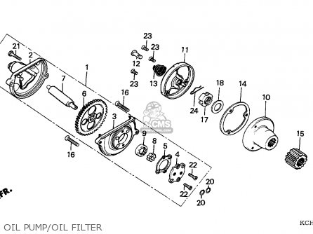 Honda Cg125 1995 (s) England parts list partsmanual partsfiche