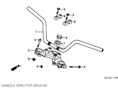 Honda CG125 1996 (T) ENGLAND parts lists and schematics