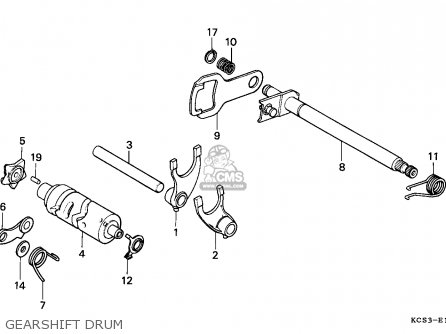 Honda Cg125 1999 Mexico / Ss parts list partsmanual partsfiche