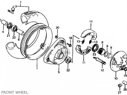 Honda Ch125 Elite 125 1984 (e) Usa parts list partsmanual