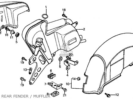 Honda Ch125 Elite 125 1984 (e) Usa parts list partsmanual