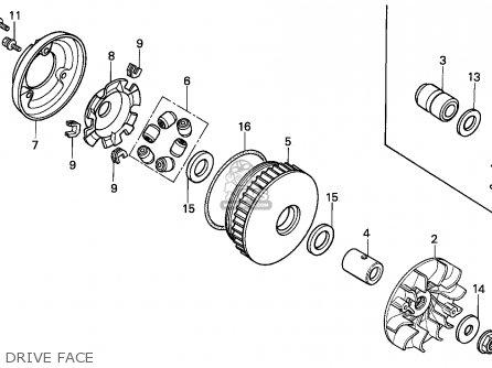 Honda CH125 ELITE 1984 (E) CANADA parts lists and schematics