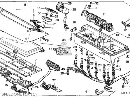 Honda CH125 SPACY 1986 (G) ENGLAND parts lists and schematics