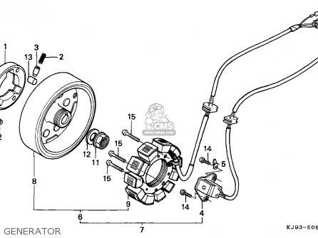 Honda Ch125 Spacy 1986 (g) Switzerland parts list