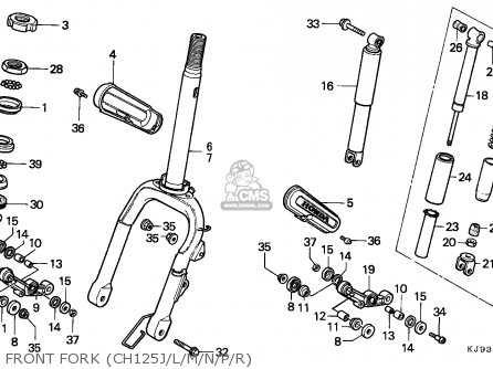 Honda Ch125 Spacy 1990 Switzerland parts list partsmanual