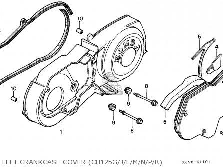 Honda Ch125 Spacy 1993 Italy / Ll parts list partsmanual