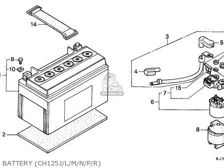 Honda Ch125 Spacy 1993 (p) France parts list partsmanual