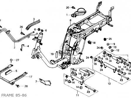 Honda Ch150d Elite 150 Deluxe 1985 (f) Usa parts list