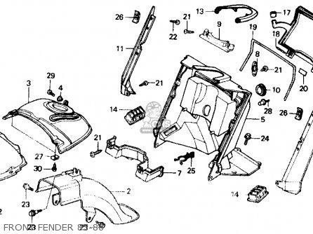 Honda Ch150d Elite 150 Deluxe 1986 Usa parts list