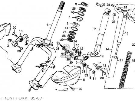 Honda CH250 ELITE 250 1985 (F) USA parts lists and schematics