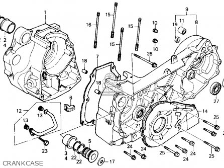 Honda CH250 ELITE 250 1986 (G) USA parts lists and schematics