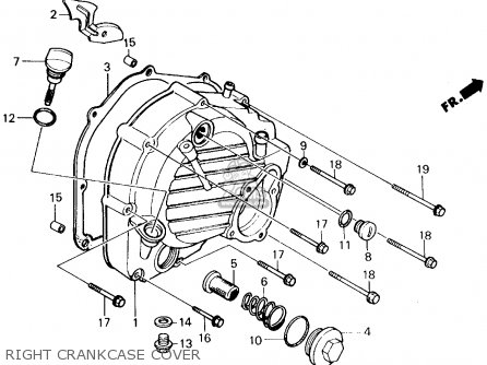 Honda CH250 ELITE 250 1986 (G) USA parts lists and schematics