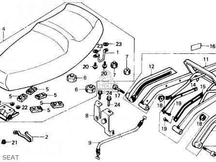 Honda Ch250 Elite 250 1986 (g) Usa parts list partsmanual