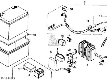 Honda Ch250 Elite 250 1986 Usa parts list partsmanual