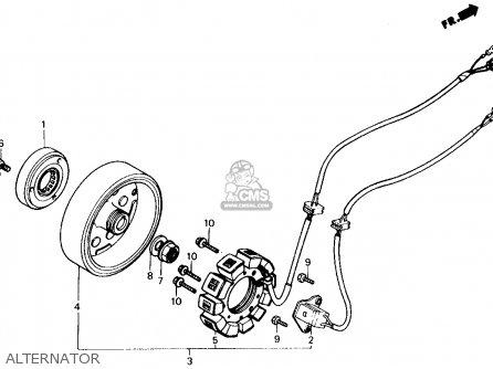 Honda Ch250 Elite 250 1987 (h) Usa parts list partsmanual