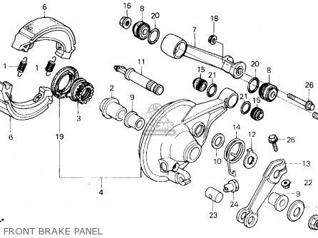 Honda CH250 ELITE 250 1987 (H) USA parts lists and schematics