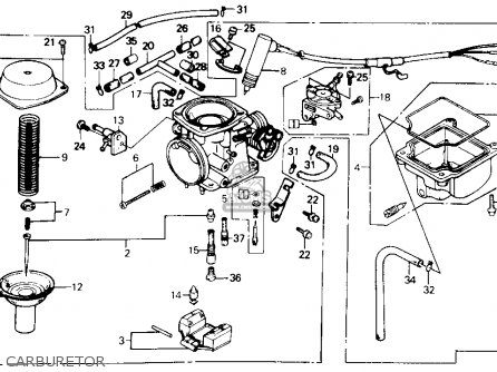 Honda CH250 ELITE 250 1988 (J) USA parts lists and schematics