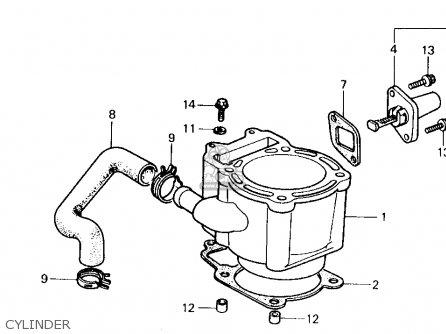Honda CH250 ELITE 250 1988 (J) USA parts lists and schematics