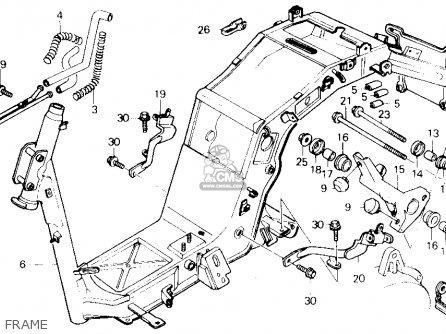 Honda Ch250 Elite 250 1988 Usa parts list partsmanual