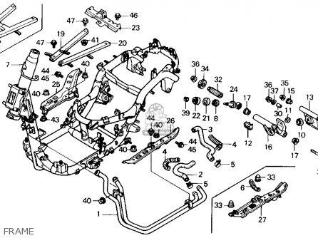 Honda CH250 ELITE 250 1989 (K) USA parts lists and schematics