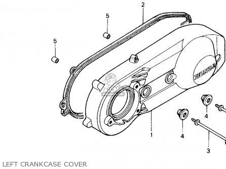 Honda Ch250 Elite 250 1989 (k) Usa parts list partsmanual